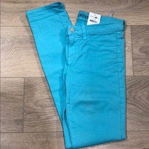 NWT J Brand Turquoise Straight Leg Jeans